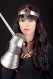 Princesse avec une épée Photo stock