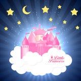 Princesse Background avec le vecteur de château illustration libre de droits