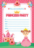 Princesse Birthday Party illustration libre de droits