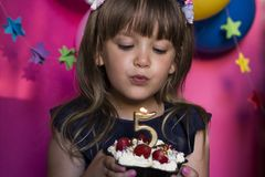 Princesse Birthday Party Faites un concept de souhait Anniversaire, happi image stock