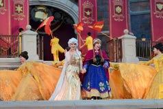 Princesse congelée par Disney Elsa et Anna Images libres de droits