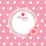 Princesse Crown Background Vector Illustration. Photos stock