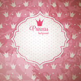Princesse Crown Background Vector Illustration. Photo stock
