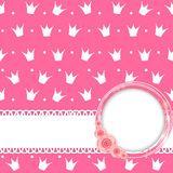 Princesse Crown Background Vector Illustration Photo libre de droits