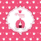 Princesse Crown Background Vector Illustration Photographie stock