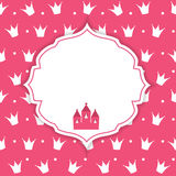 Princesse Crown Background Vector Illustration Image libre de droits