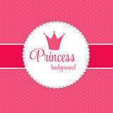 Princesse Crown Background Vector Illustration Photo stock