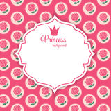 Princesse Crown Background Vector Illustration illustration stock