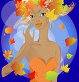 Princesse d'automne Images libres de droits