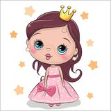 Princesse de conte de fées de carte de voeux illustration de vecteur