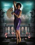 Princesse de l'Asie 3d, CG. Images libres de droits