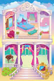 Princesse de luxe House de conte de fées illustration de vecteur
