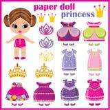 Princesse de papier de poupée. illustration stock