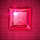 Princesse de pierre gemme formée sur le fond texturisé Photographie stock libre de droits