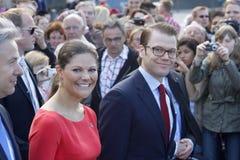 Princesse de tête Victoria de la Suède avec le mari Dan Images libres de droits