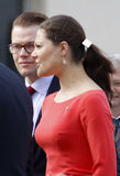 Princesse de tête Victoria de la Suède avec le mari Dan Photos stock