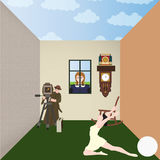 Princesse et lentille Image stock