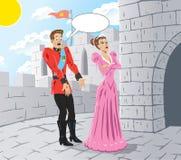 Princesse fâchée illustration libre de droits