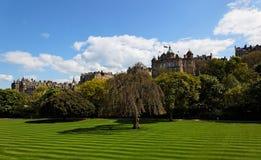 Princesse Gardens. Edimbourg. l'Ecosse. LE R-U. Images libres de droits