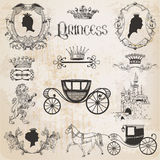 Princesse Girl Set de vintage Images libres de droits