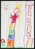 Princesse Le retrait de l'enfant illustration stock
