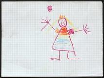 Princesse Le retrait de l'enfant image libre de droits