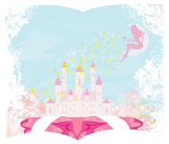 Princesse magique Castle de conte de fées Image stock