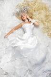 Princesse ou la mariée photo libre de droits