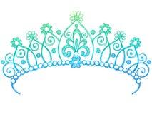 Princesse peu précise Tiara Crown Notebook Doodles illustration stock