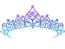 Princesse peu précise Tiara Crown Notebook Doodles Photo libre de droits