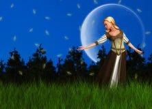 Princesse rêveuse magique Illustration de conte de fées Photo libre de droits