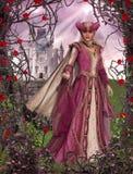 Princesse Sleeping Beauty Rose Castle de conte de fées Illustration Libre de Droits
