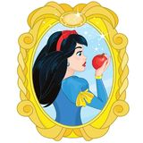 Princesse Snow White et Apple empoisonné illustration stock