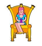 Princesse sur le trône Chaise royale Illustration de vecteur illustration de vecteur