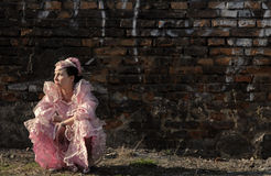 Princesse triste Photographie stock