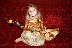 Princessen med steg Arkivbilder