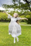 Princesses can also fly like fairies Royalty Free Stock Photos