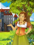 The princesses - castles - knights and fairies - Beautiful Manga Girl - illustration for the children Stock Photo