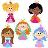 Princesses mignonnes de fille réglées illustration libre de droits