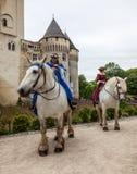 Princesses Riding Horses Stock Photo