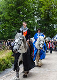 Princesses Riding Horses Royalty Free Stock Images