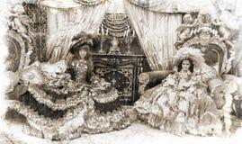 princesses style tappning två Royaltyfri Bild