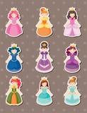 princessetiketter vektor illustrationer
