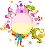 princessset royaltyfri illustrationer