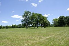 Princeton Battlefield. The site of the American Revolutionary War Battle of Princeton in New Jersey on January 3, 1777. George Washington and the Continental Royalty Free Stock Photos