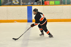 Princeton player in NCAA Ice Hockey Game Royalty Free Stock Image