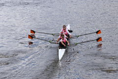 Princeton races in the Head of Charles Regatta Mens's Championship Fours [PUBLIC RACE] Stock Photo