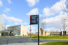 Princeton stacji parking teatru parking znak zdjęcie stock