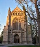Princeton University Chapel at sunset Stock Photos