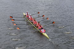 Princeton University races in the Head of Charles Regatta Stock Image